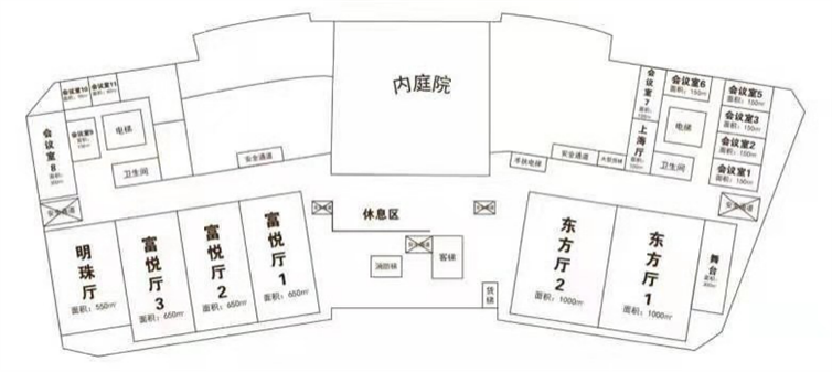 富悦大酒店三层平面图